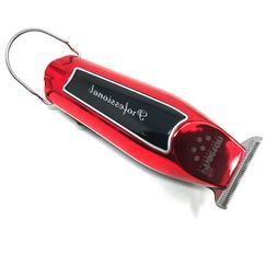 PROFESSIONAL CORDLESS HAIR TRIMMER RED & BLACK 2-SPEED T-BLA