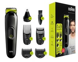 1 Of Brand New Braun 6-in-1 Mens Beard Trimmer and Hair Clip