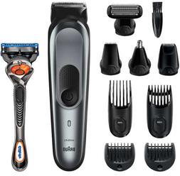 Braun 10 in 1 Trimmer 7 MGK7221 Barber Hair Clippers All in