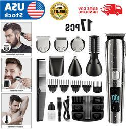 13PC Hatteker Men's Beard Trimmer Cordless Hair Trimmer Hair