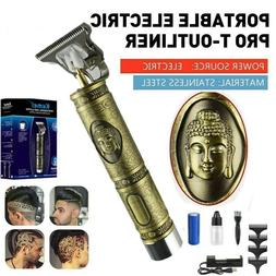 Kemei 1974a Metal Pro T-OUTLINER Cordless Trimmer Wireles Po