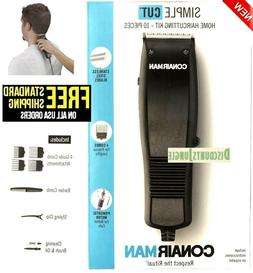 Conair Simple Cut HC93W 10 Piece Hair Clipper Taper Cutting