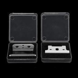 2Pcs Strong Barber Ceramic Shop Cutter + Metal Bottom Cutter