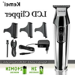 4 Speed Fast Charger Hair Clipper LCD Rechargeable Electric