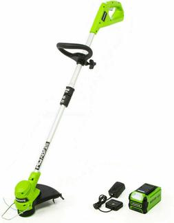 Greenworks 40V 12-Inch String Trimmer 2.0 Ah Battery and Cha