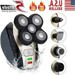 4D Rotary Electric Shaver 5 IN 1 USB Rechargeable Bald Head