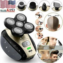 5 IN 1 4D Rotary Electric Shaver Rechargeable Bald Head Bear