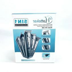 Hatteker 5 In 1 Hair Clipper/Trimmer/Shaver USB Rechargeable