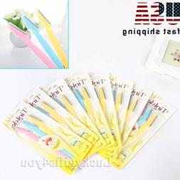 6~36 PACK Women Face & Eyebrow Hair Removal Safety Razor Tri