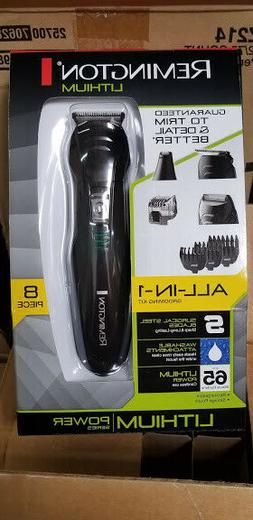 8-Pcs Men's Grooming Kit Beard Trimmer Electric Hair Shaver