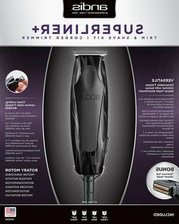 Andis 220-240v T-Outliner Trimmer & Shaver Kit,Black Flames