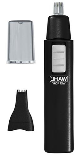 - Cordless Ear/Nose/Brow Dual Head Wet-Dry Trimmer