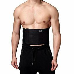 Waist Trimmer Ab Belt w Adjustable Closure for lower Back Lu