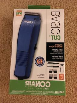 CONAIR Basic Cut Home Hair Cutting Kit Clippers 10 Piece Set