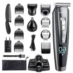 HATTEKER Beard Trimmer for men Kit Cordless Mustache Hair Gr
