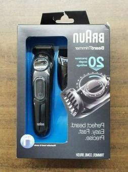 Braun BT3020 Men's Beard Cordless Rechargeable Trimmer - Bla