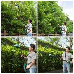 20V 20'' Extension Pole Electric Cordless Hedge Trimmer Batt