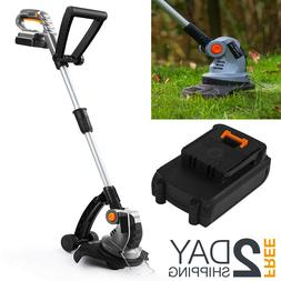 Cordless Electric Grass Trimmer With Lithium-Ion Battery And