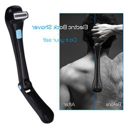 Do It Yourself Men Manual Back Hair Shaver Long Foldable Han