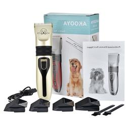 Dog Hair Trimmer Set | Pet Clipper with Accessories | Pet Gr