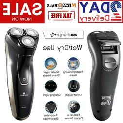 Electric Rotary Shaver USB Cordless Wet & Dry Shaving Razor