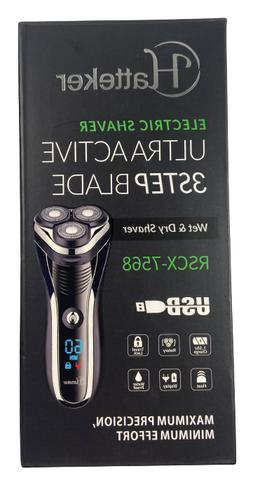 Electric Shaver Rotary Razor Men Cordless Beard Trimmer Wet