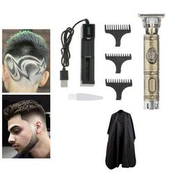 Electric Trimmer Boys Men's Hair Clipper & Charger Set T-Bla