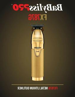 BaByliss Pro FX787G Cordless Trimmer - Gold FX Metal Lithium