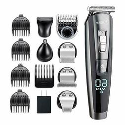 HATTEKER Hair Clipper Beard Trimmer Kit For Men Cordless Mus