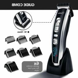 Hatteker Hair Clipper Set Combs LED Rechargeable Trimmer Cor
