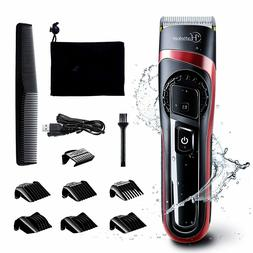 HATTEKER Hair Clippers for Men Cordless Hair Trimmer Profess