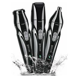 Hair Trimmer Kit Beard Taming Men Shaving Grooming USB Clipp
