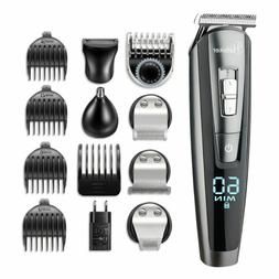 Hatteker 5 In 1 Beard Trimmer Cordless Mustache Nose Hair Tr
