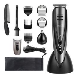 Hatteker Hair Clipper Beard Grooming Cordless Men Mustache E