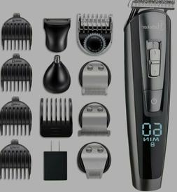 HATTEKER Hair Clipper Beard Trimmer Kit For Men Cordless Hai