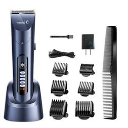 HATTEKER Hair Clippers Cordless Hair Trimmer LED Display Bea