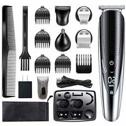 Hattteker Mens Hair Clipper Beard Trimmer Grooming Kit Trimm