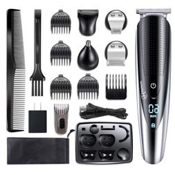 Hattteker Mens Hair Clipper Beard Trimmer Grooming kit Hair