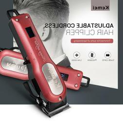 Kemei KM-1031 Cordless Hair Clipper Trimmer Cutting Razor wi