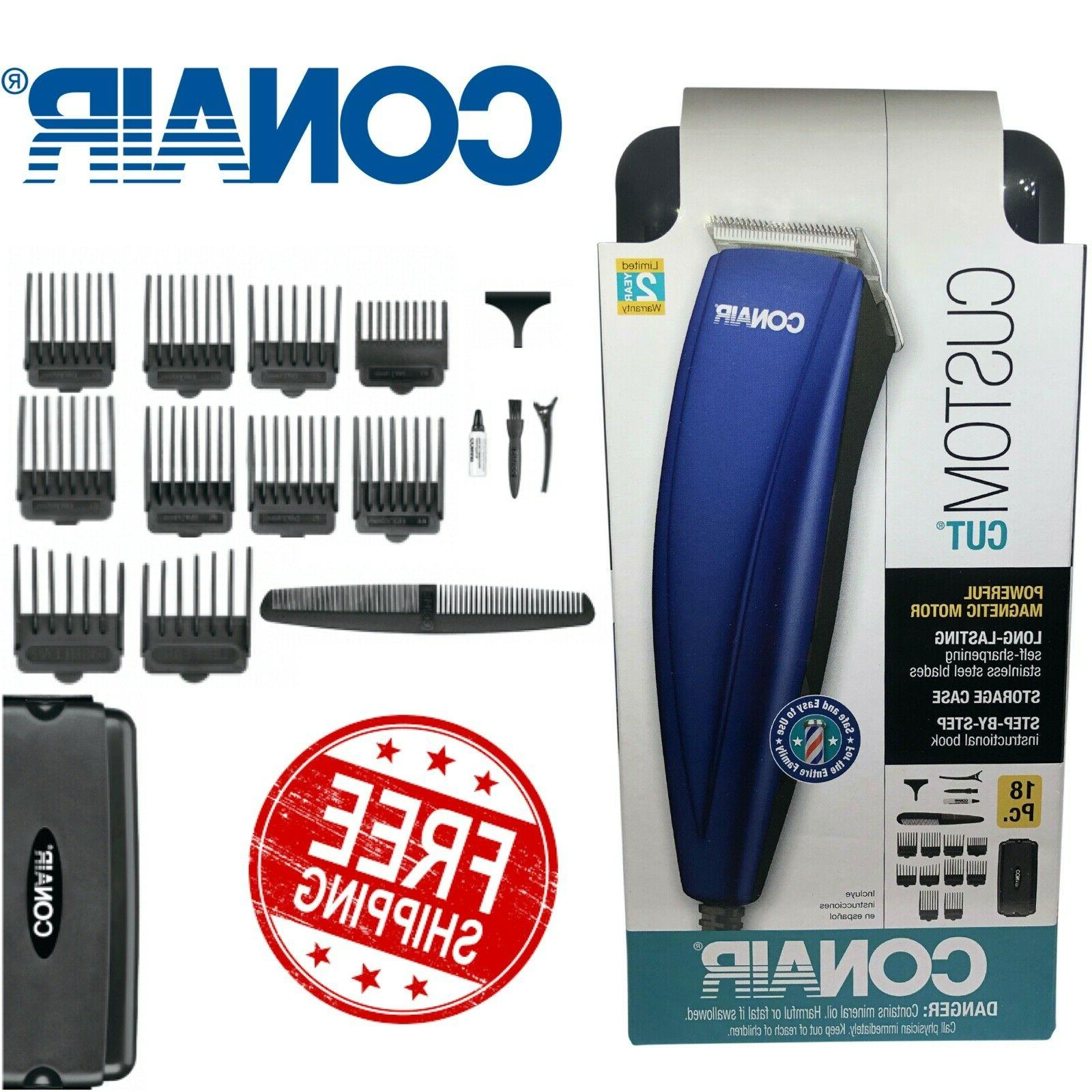 18 piece professional hair clippers trimmer kit