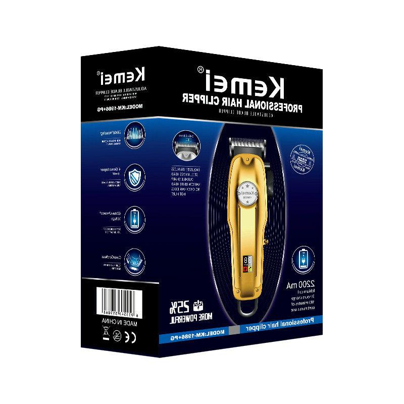Kemei Cordless Hair Trimmer, Gold