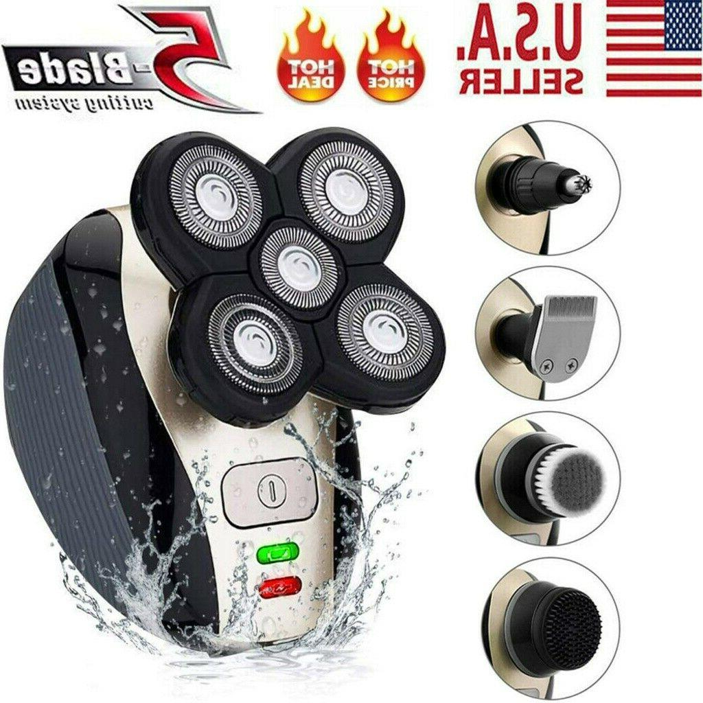 4d rotary electric shaver 5 in 1
