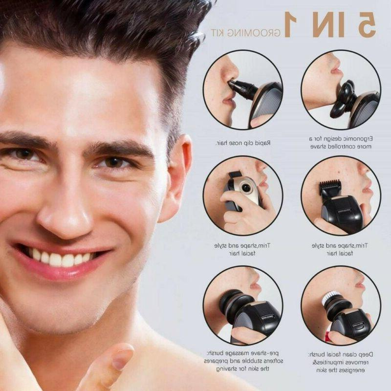 5 IN 1 4D Rotary Electric Shaver Bald Shaver Trimmer US
