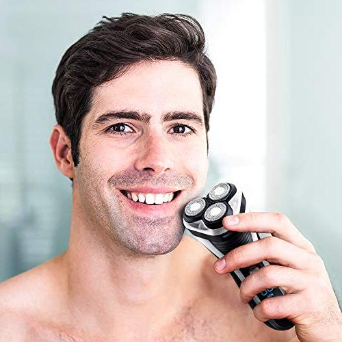 Hatteker Shaver Rotary Razor Men trimmer Pop-trimmer USB Rechargeable