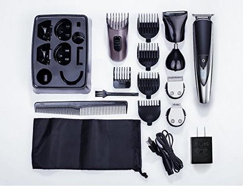 Hatteker Kit Mustache Ear Grooming Body Waterproof All-in-One