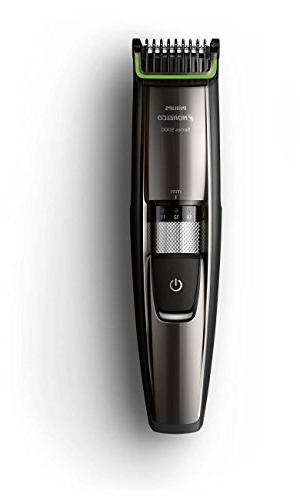 Philips Norelco Beard Hair BT5215/41 cordless rechargable, length, hair clipper, stubble, mustache groomer