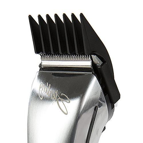 Wahl Detachable Clipper Cutting Set – Wahl Chromstyle Pro Clipper, Sterling Big Li+Pro Set of 6