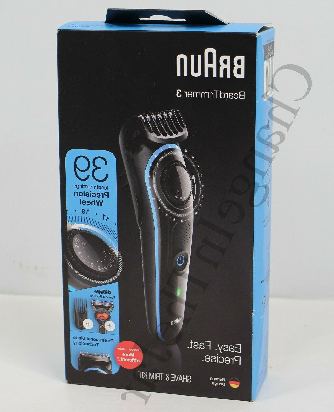 Braun Beard Trimmer BT3240 Hair Clipper, 39 Length Settings,