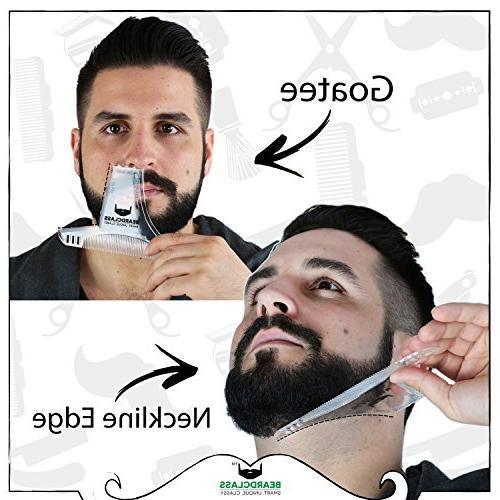 BEARDCLASS - 8 in Comb Multi-liner Beard Template Kit - with Beard