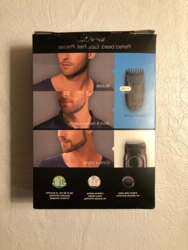 Braun Trimmer Cordless Rechargeable Black New